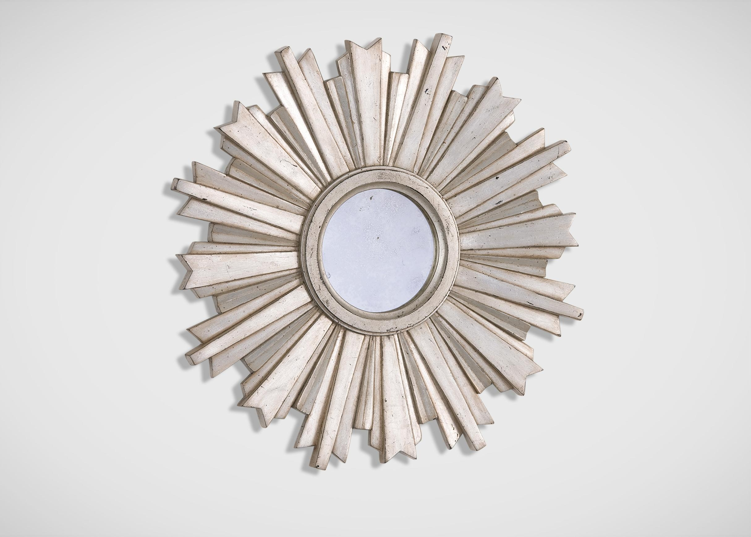 Mini Silver Starburst Mirror | Mirrors Inside Small Silver Mirrors (Image 9 of 20)