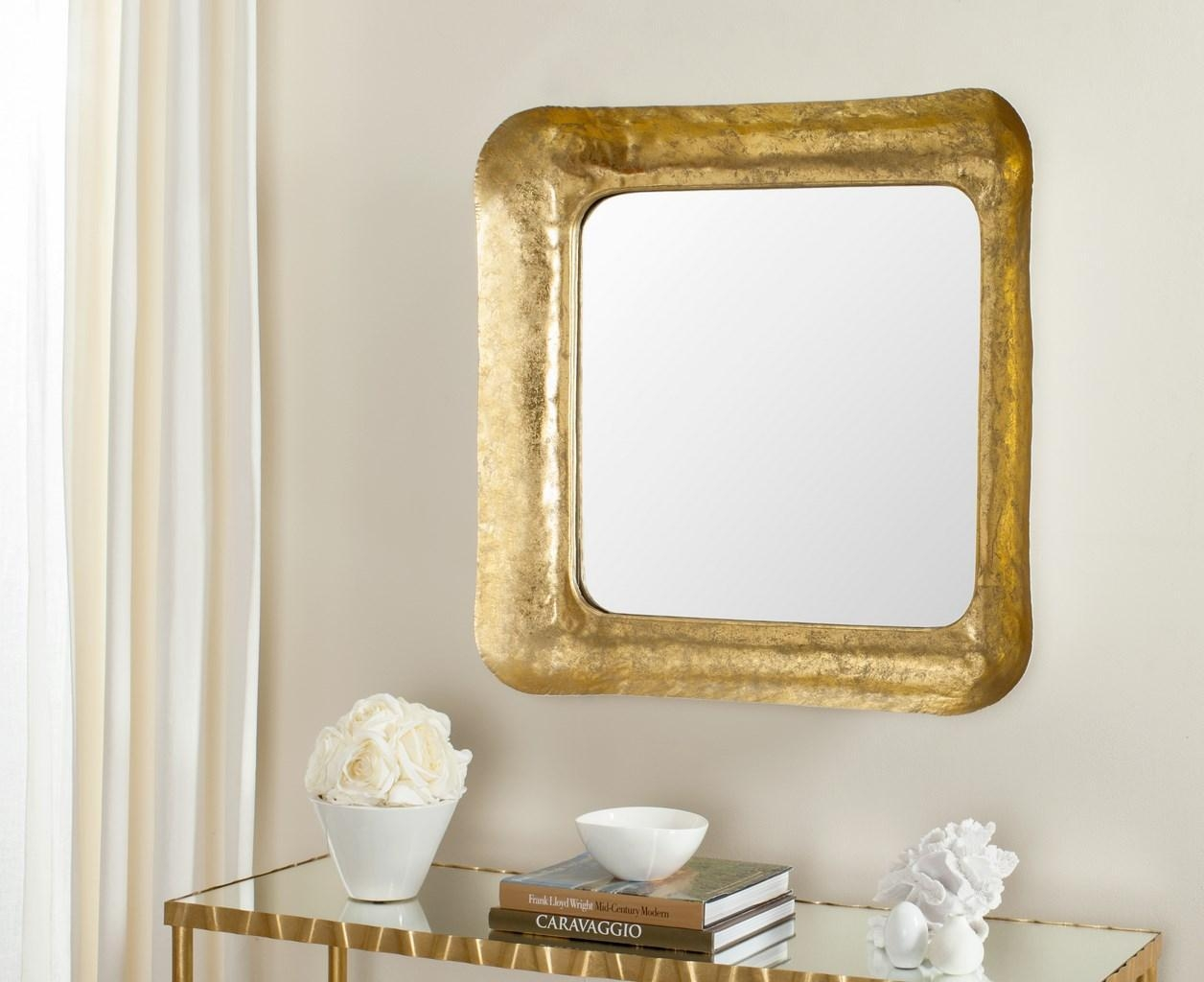 Mir4086A Mirrors – Safavieh With Square Gold Mirror (Image 10 of 20)