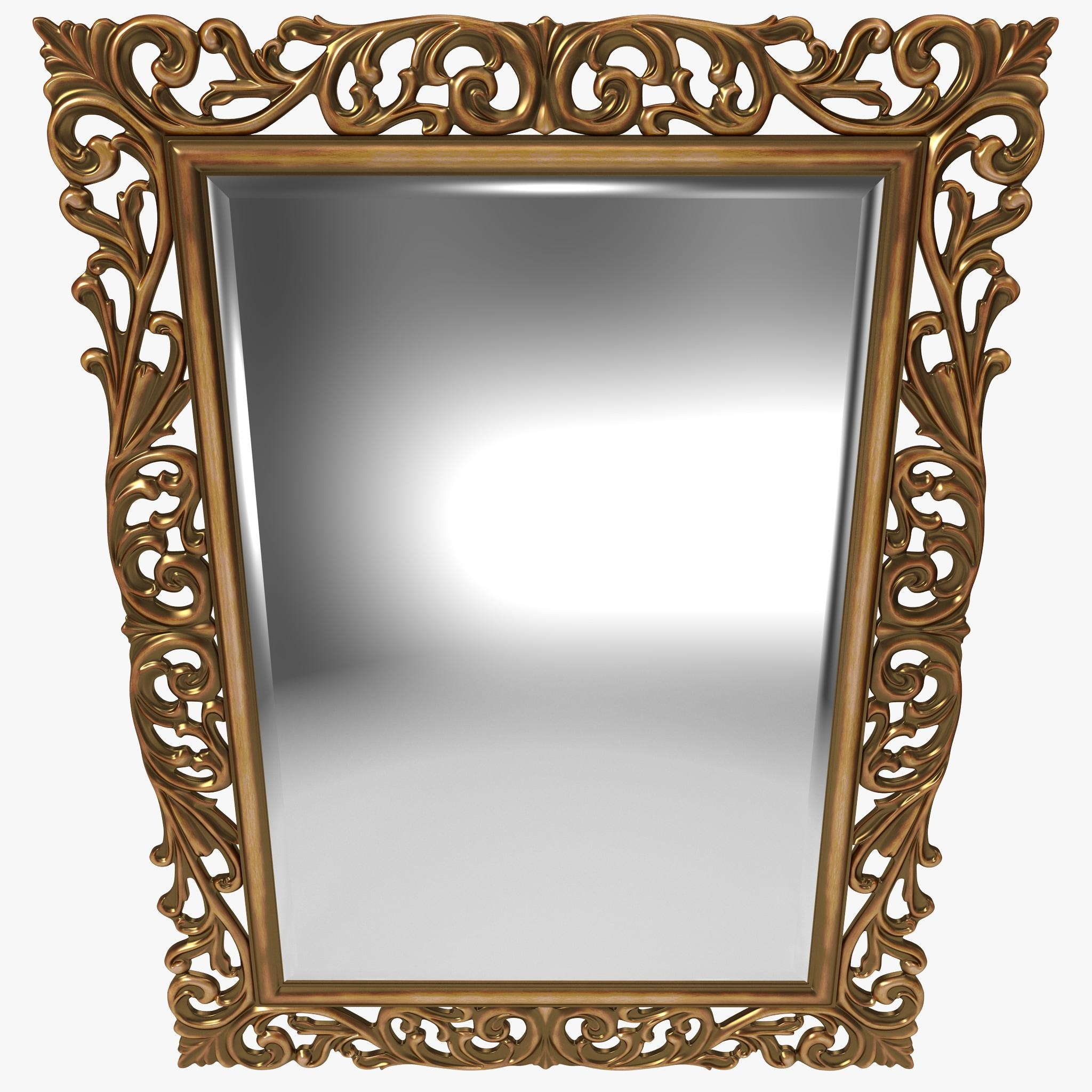 Mirror 3D Models | Turbosquid With Regard To Square Gold Mirror (Image 11 of 20)