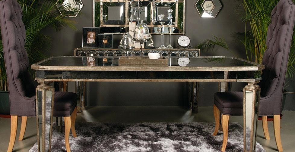 Mirror Dining Room Tables – Shopwiz With Antique Mirror Dining Tables (Image 13 of 20)