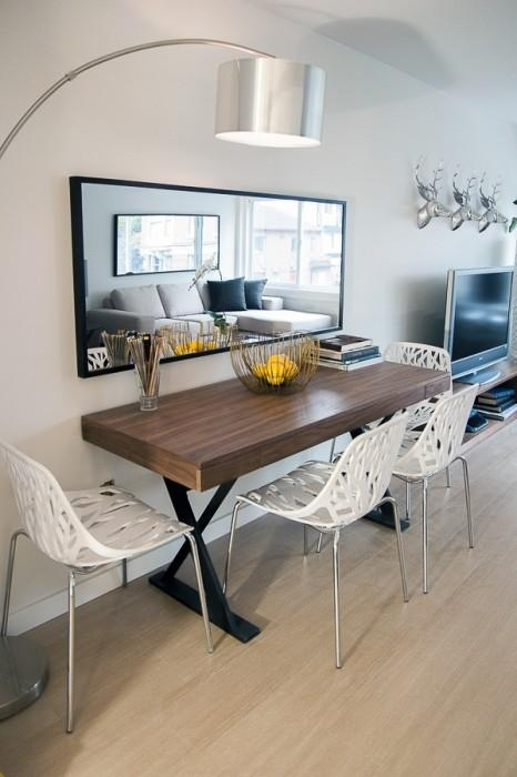 Mirror Dining Table Inside Sleek Dining Tables (Image 13 of 20)