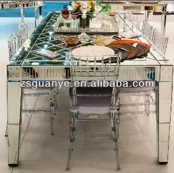 Mirror Dining Table,modern Style,glass Furniture – Buy Glass Pertaining To Mirror Glass Dining Tables (View 8 of 20)