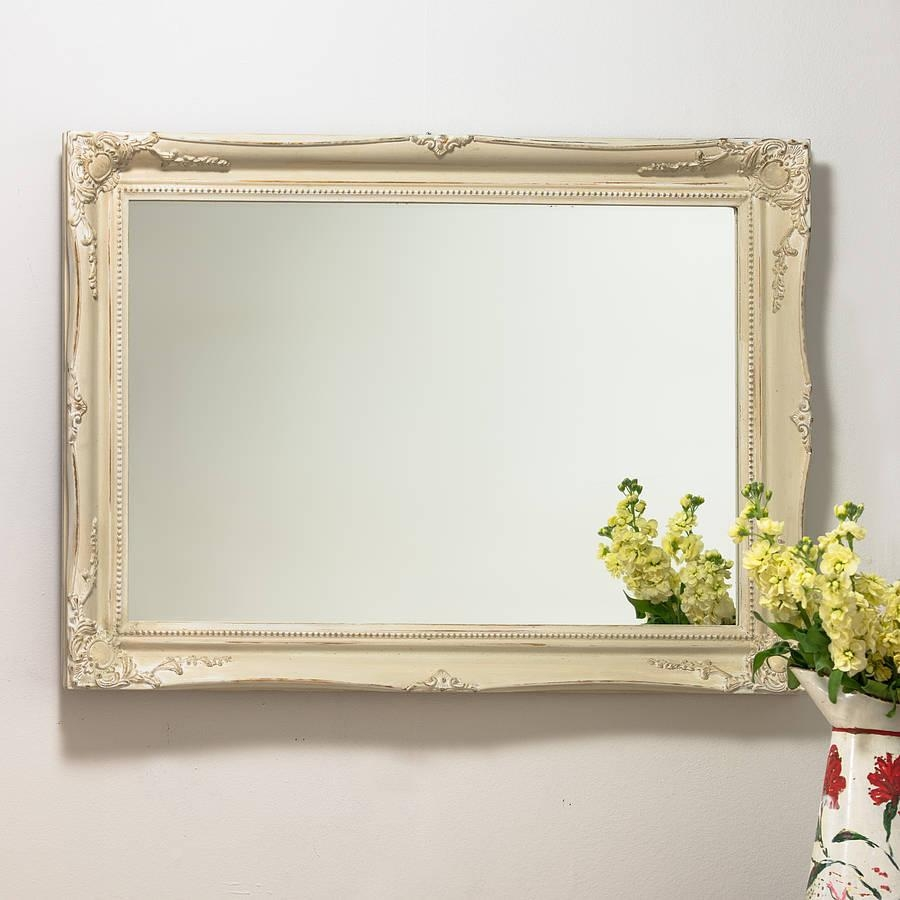 Mirror Expertly Hand Painted In Your Colour Choicehand Crafted In Cream Mirrors (Image 13 of 20)
