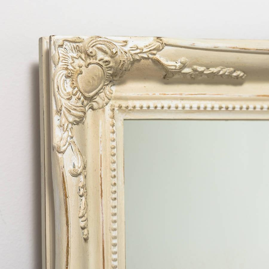 Mirror Expertly Hand Painted In Your Colour Choicehand Crafted Pertaining To Cream Ornate Mirror (Image 9 of 20)