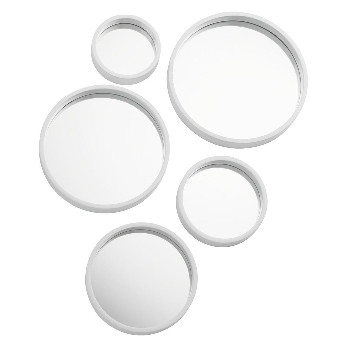 Mirror Mirror Set Of 5 White Round Mirrors | Buy Now At Habitat Uk Throughout Round White Mirror (Image 10 of 20)