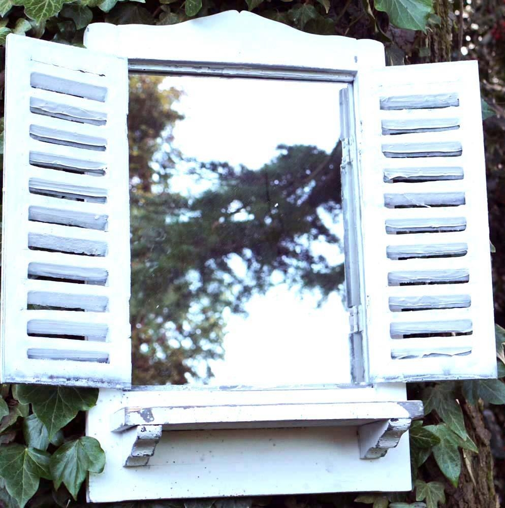 Mirror That Looks Like A Window With Shutters | Vanity And Regarding Window Shutter Mirror (Image 4 of 20)