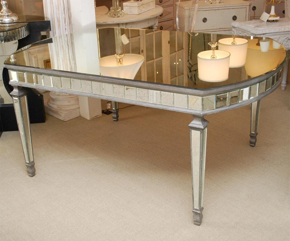 Mirrored Dining Room Set Pertaining To Mirror Glass Dining Tables (Image 18 of 20)