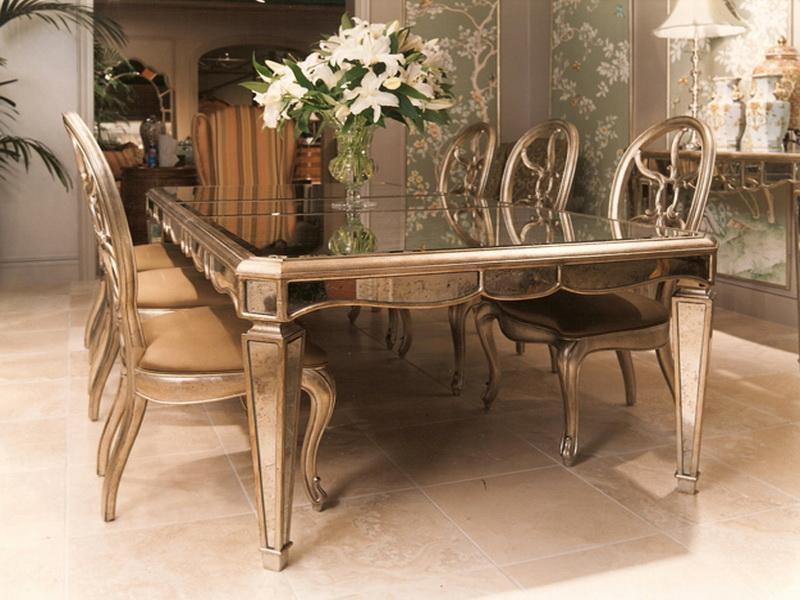 Mirrored Dining Table And Mirrored Dining Table Base – Mirrored Within Mirrored Dining Tables (Image 12 of 20)