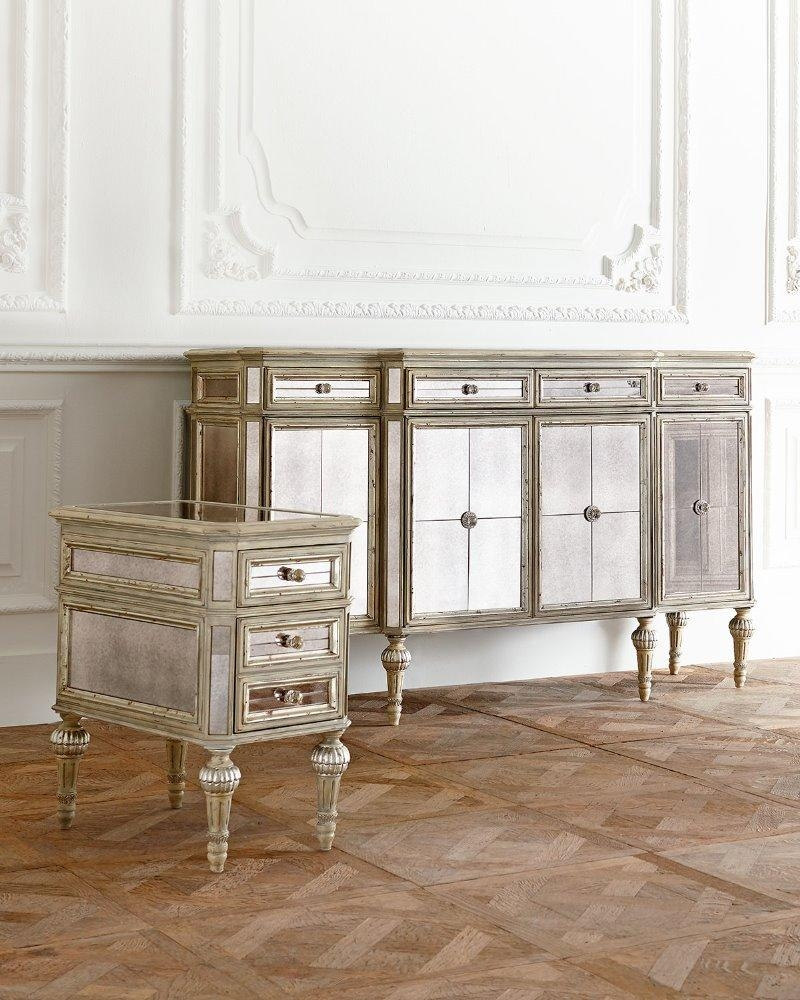 Mirrored Furniture, Mirrored Furniture Suppliers And Manufacturers Regarding Antique Mirrored Furniture (Image 17 of 20)