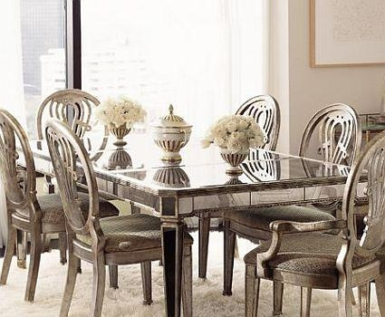 Mirrored Furniture – Spacious Interior Design Intended For Antique Mirror Dining Tables (Image 17 of 20)