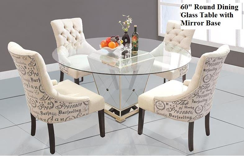 Mirrored Round Dining Table Intended For Mirror Glass Dining Tables (View 6 of 20)
