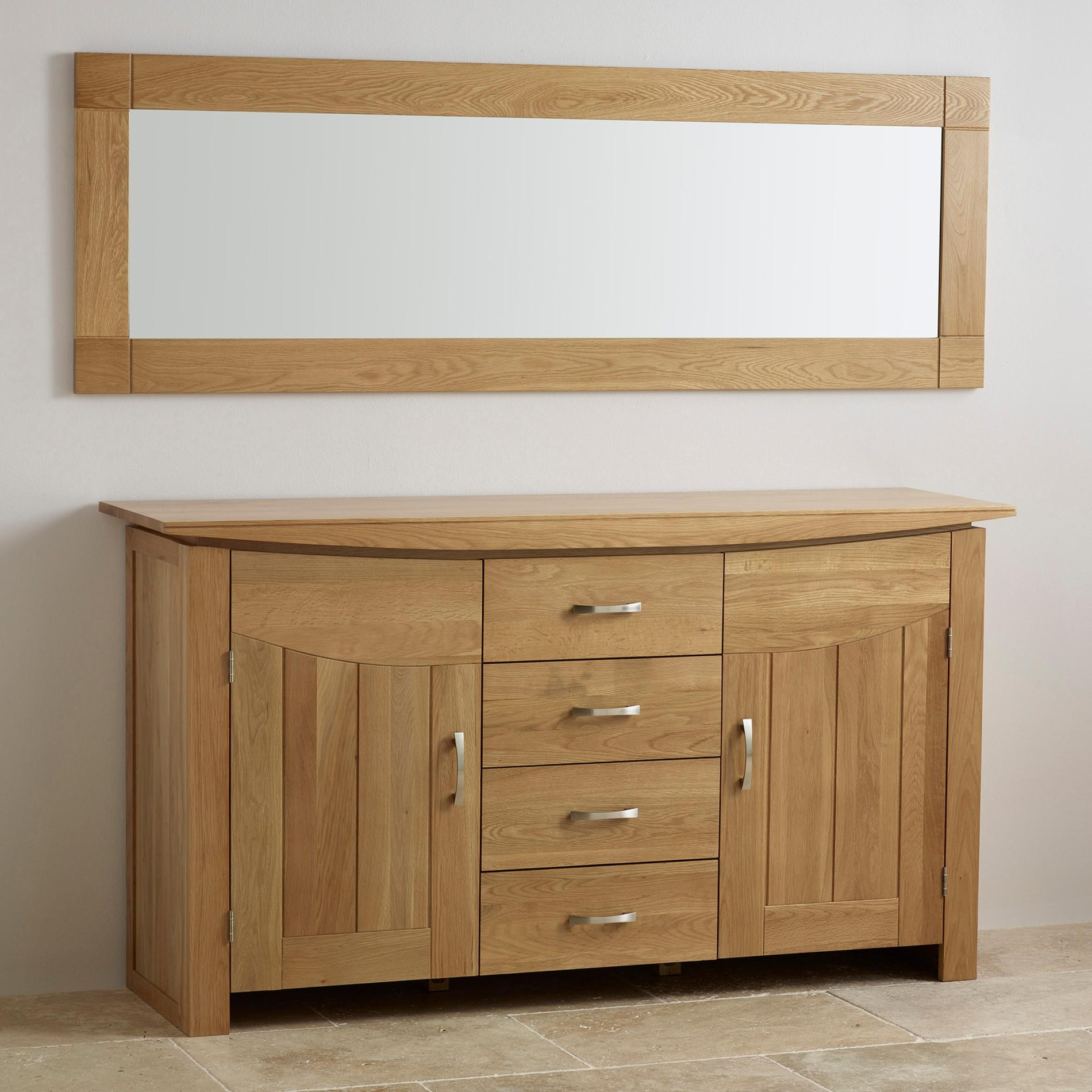 Mirrors | Bring Light To Your Room | Oak Furniture Land Throughout Oak Framed Wall Mirror (Image 3 of 20)
