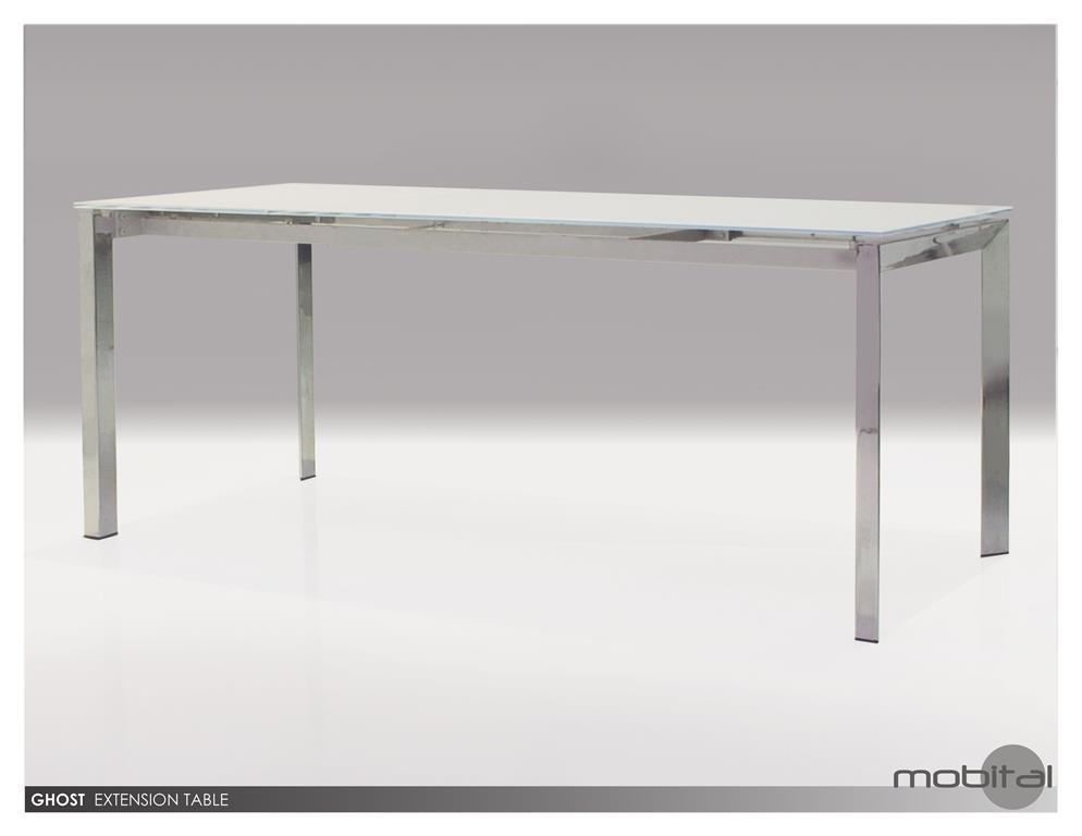 Mobital Ghost Extending Dining Table In White Glass Top – Beyond Regarding White Extending Dining Tables (Image 13 of 20)