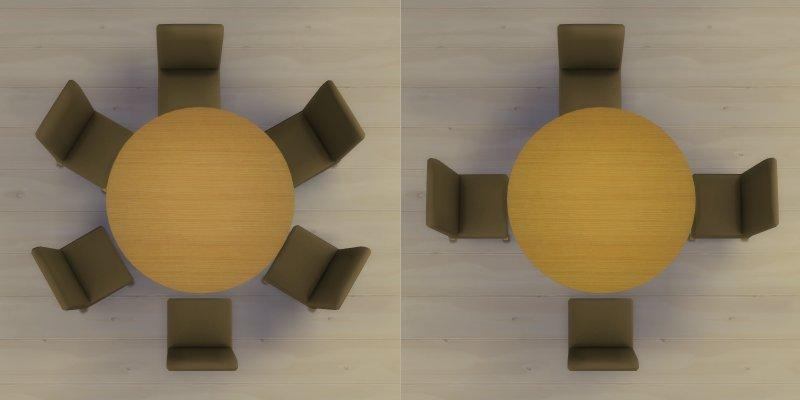 Mod The Sims – Modern 6 Seater And 8 Seater Round Dining Table And Regarding 6 Seat Round Dining Tables (Image 16 of 20)