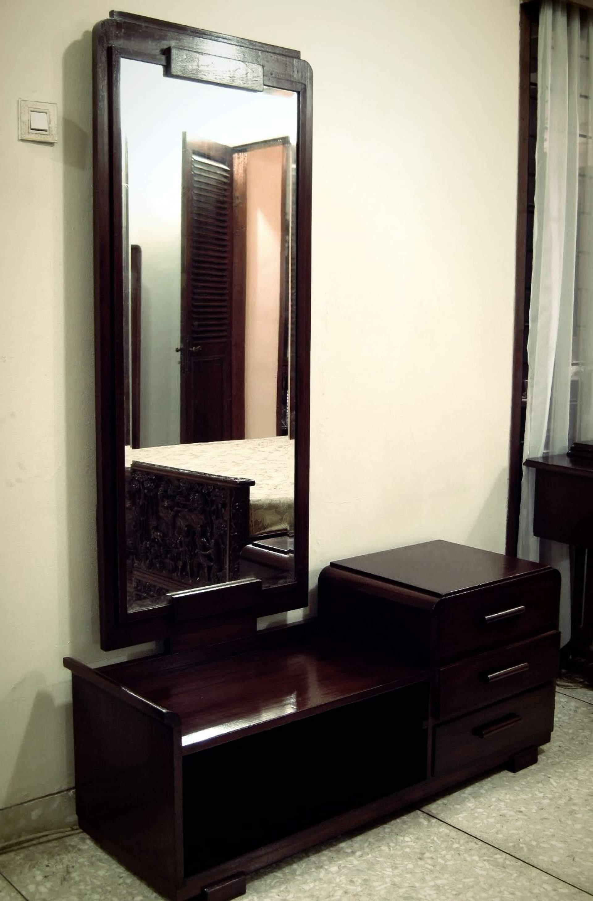 Modern Bedroom Dressing Table With Mirror – Home Combo In Dressing Table With Long Mirror (Image 15 of 20)