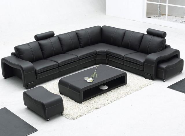 Modern Black Leather Sofa | Design Your Life In Contemporary Black Leather Sofas (View 6 of 20)