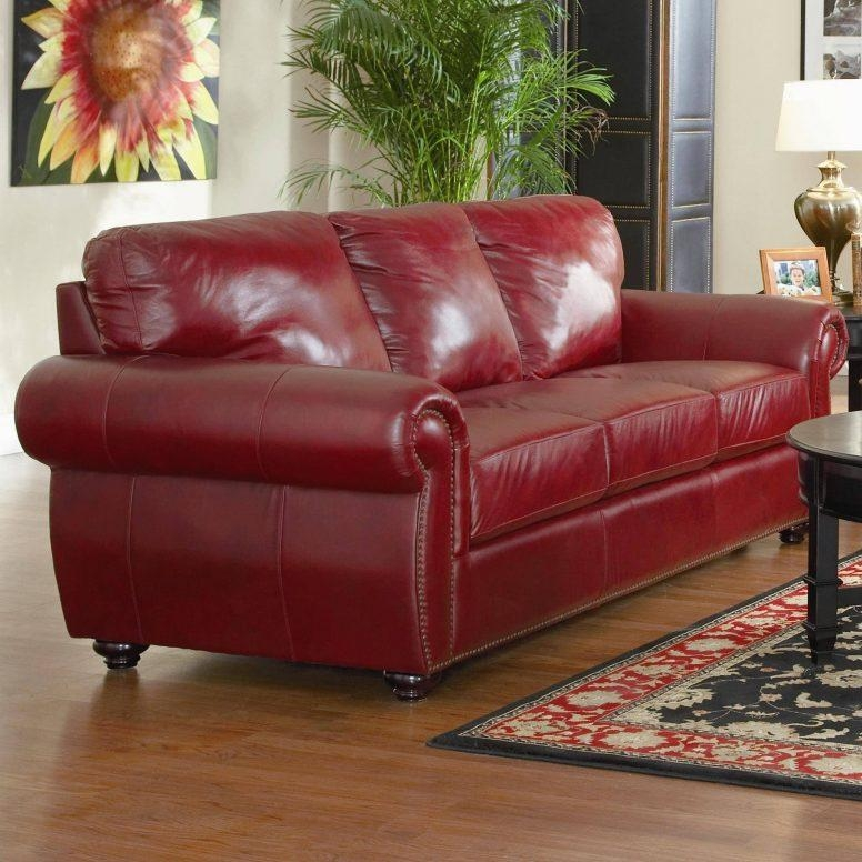 Modern Burgundy Living Room Black Medium Size Armchair Leather Within Dark Red Leather Sofas (Image 17 of 20)