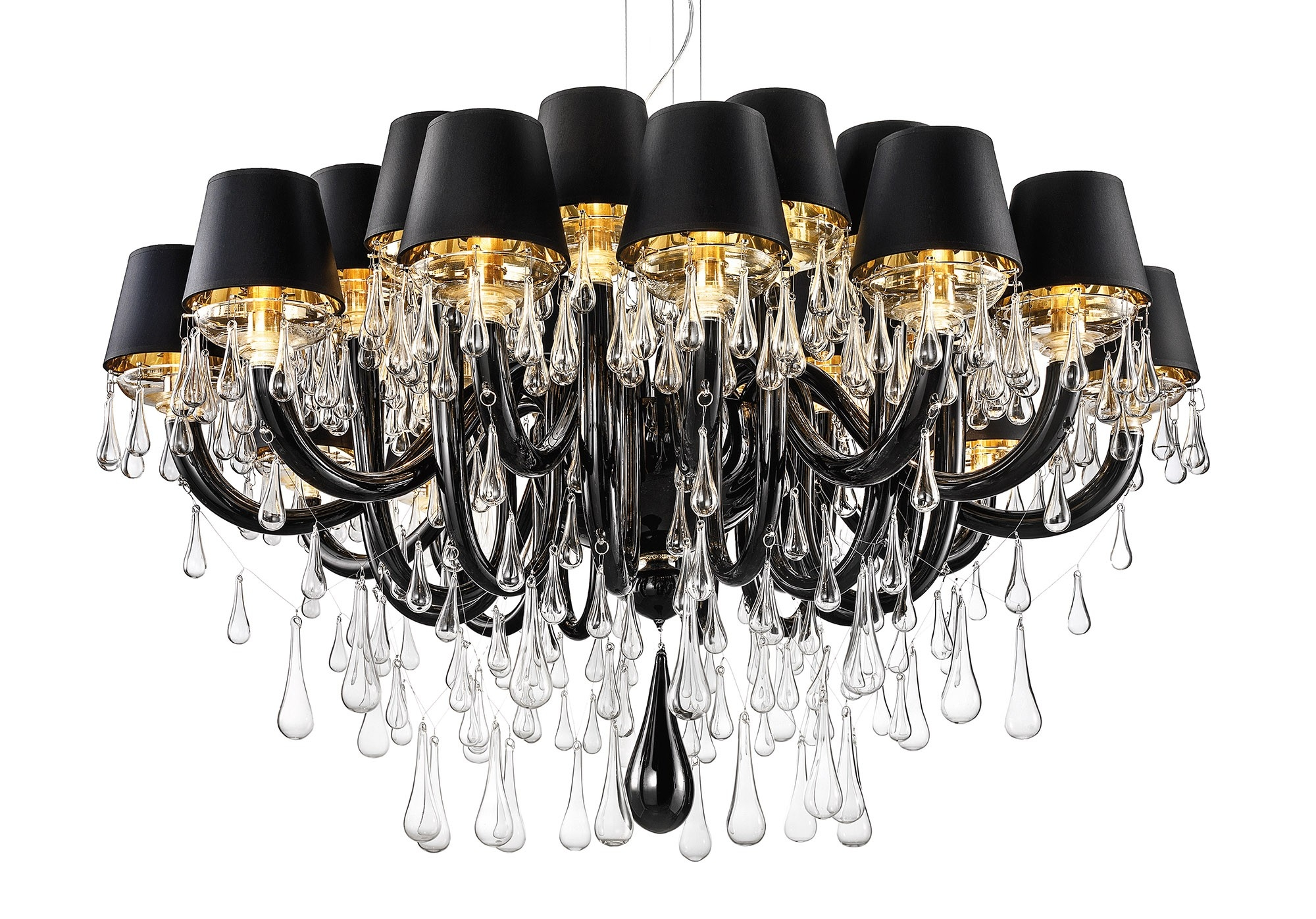Modern Chandelier Black Within Chandeliers With Black Shades (Image 17 of 25)