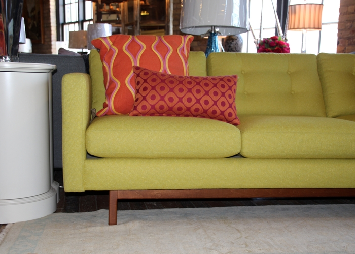 Modern + Chartreuse – Dewitt Designs Pertaining To Chartreuse Sofas (View 5 of 20)