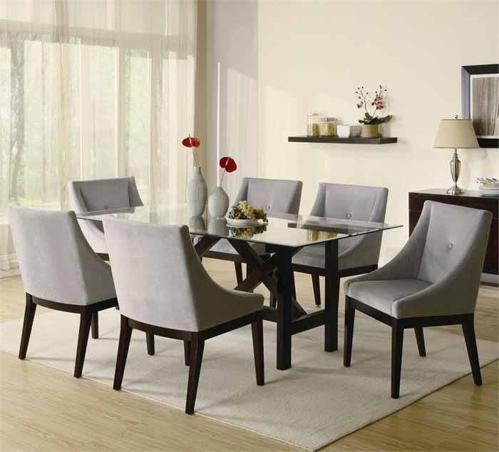 Modern Contemporary Dining Room Furniture Extraordinary Ideas Inside Contemporary Dining Tables Sets (Image 13 of 20)