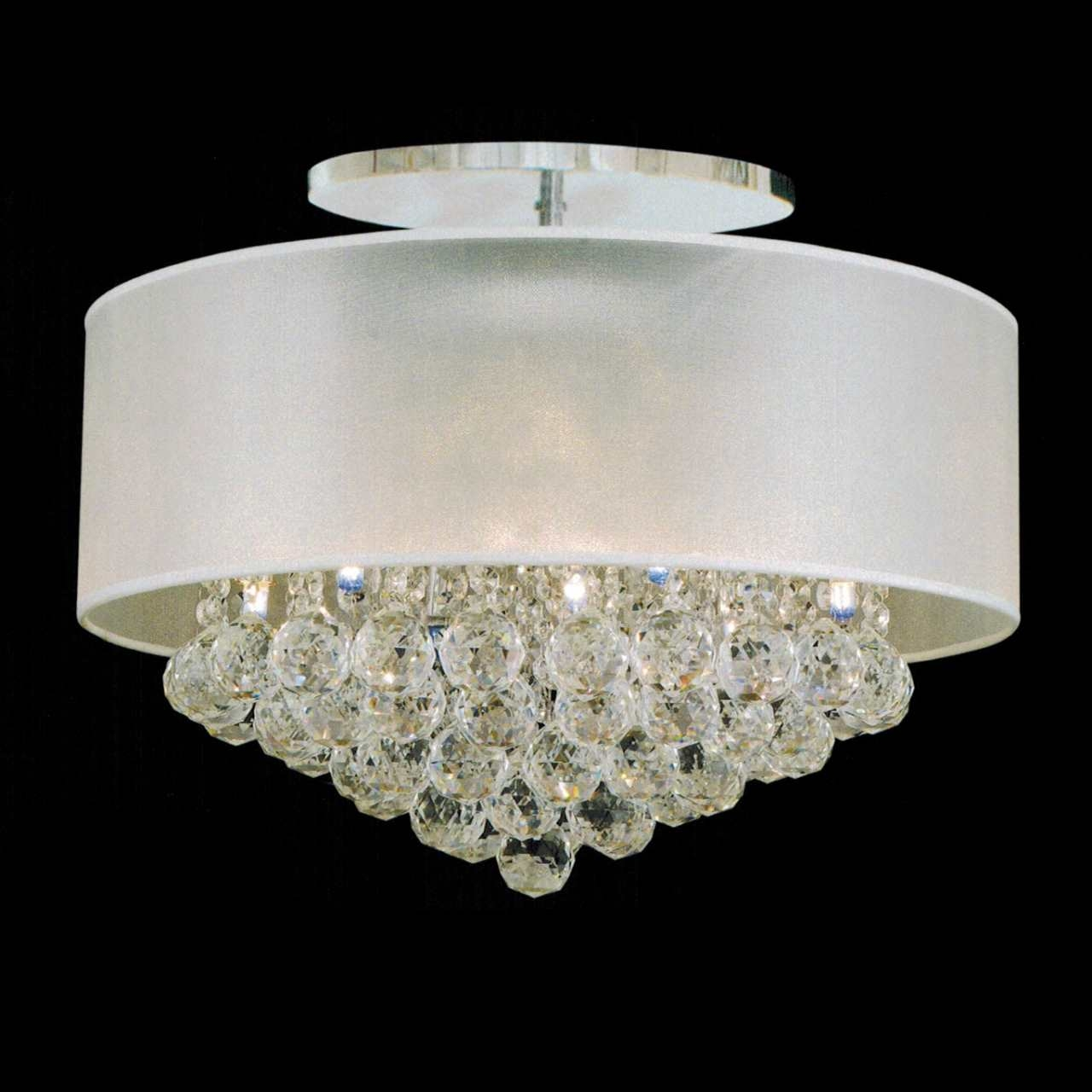 Modern Crystal Flush Mount Chandelier For Flush Chandelier Ceiling Lights (Image 22 of 25)