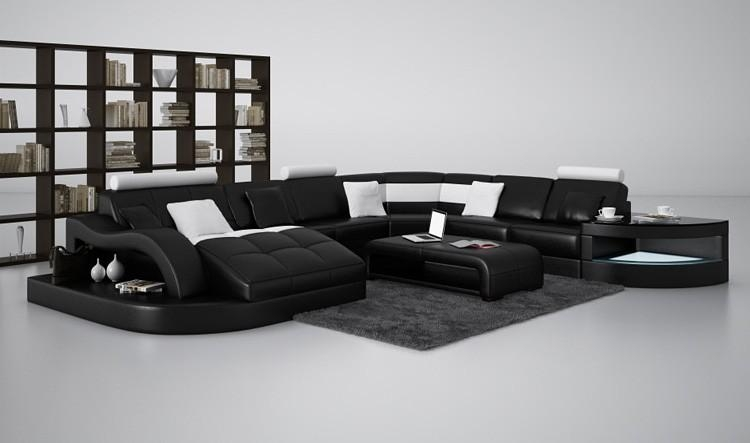 Modern Curved Sofas And U Shaped Couches With Regard To Black Modern Couches (Image 13 of 20)