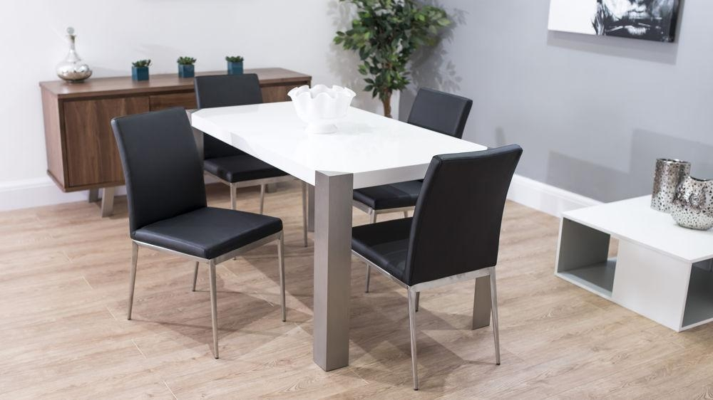Modern Dining Chair | Brushed Metal Legs | Uk Delivery For Brushed Metal Dining Tables (View 2 of 20)