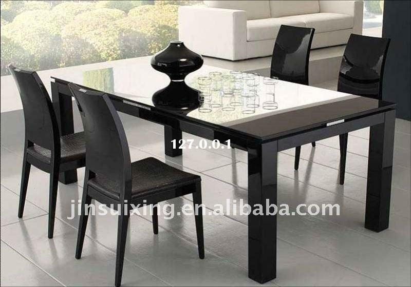 Modern Dining Room Design With Ikea Round Glass Top Dining Table For Ikea Round Glass Top Dining Tables (Image 14 of 20)