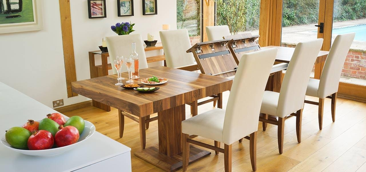 Modern Extending Dining Table Within Contemporary Extending Dining Tables (Image 15 of 20)