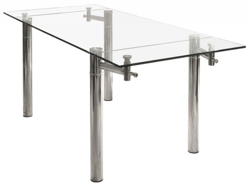 Modern Fashion Design Extendable Tempered Glass Dining Table Ktz Regarding Extending Glass Dining Tables (View 16 of 20)
