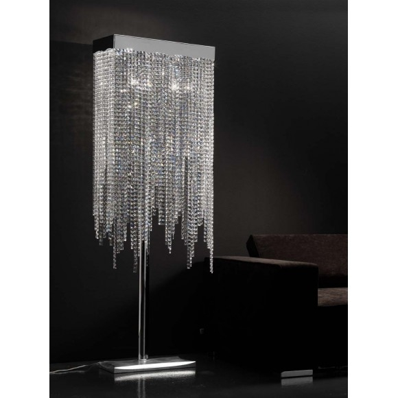 Modern Floor Lamps Arc Floor Lamp Torchiere And Tripod For Inside Crystal Chandelier Standing Lamps (Image 16 of 25)