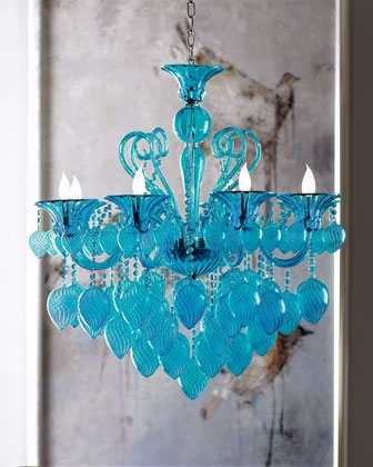 Modern Glamour 8 Light Chandelier Chandeliers Ceiling Canopy For Turquoise Glass Chandelier Lighting (Image 21 of 25)