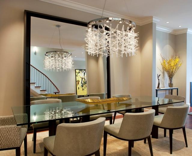 Modern Glass Dining Room Tables Home Interior Decor Ideas Dining Intended For Crystal Dining Tables (View 6 of 20)