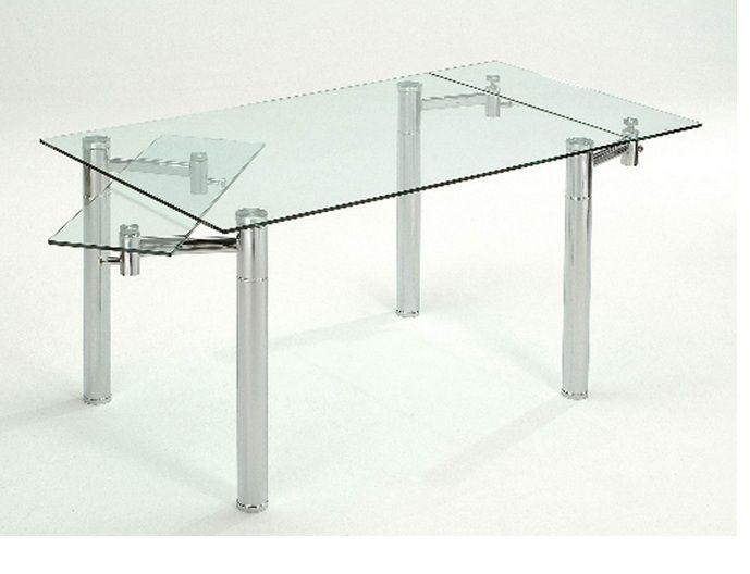Modern Glass Extendable Dining Table Utah – $ (View 15 of 20)