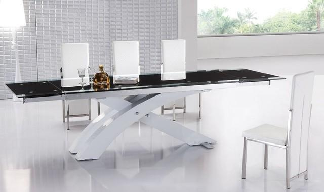 Modern Glass Kitchen Table With Regard To Contemporary Extending Dining Tables (Image 16 of 20)