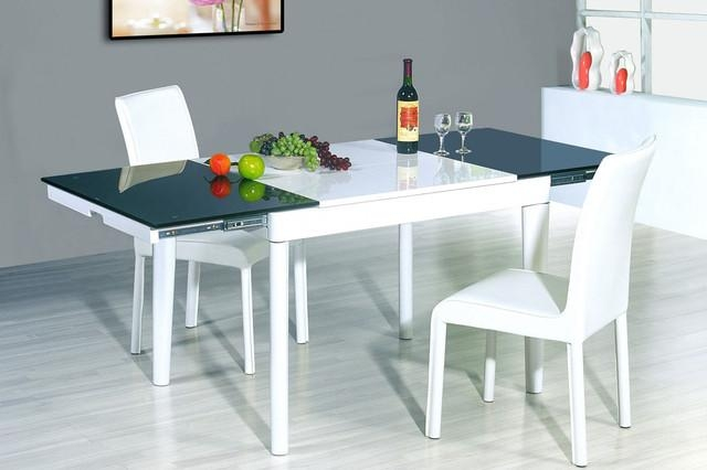 Modern Glass Top Extendable Dining Table Extendable Wooden With Inside Extendable Dining Table Sets (Image 19 of 20)