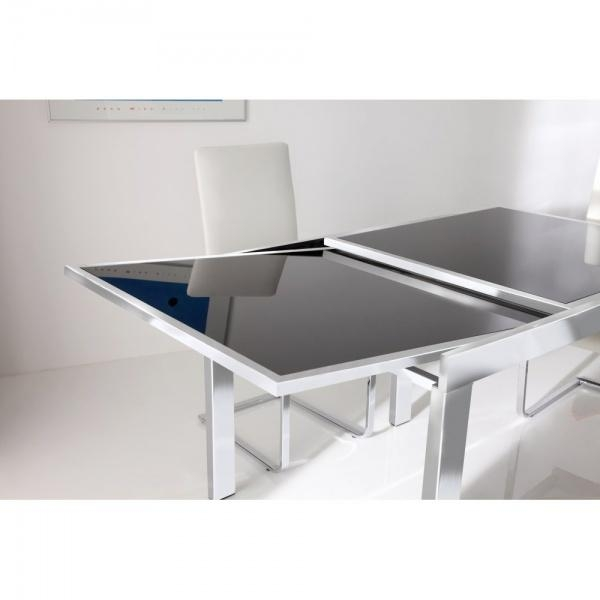Modern Glass Top Extendable Dining Table Extendable Wooden With With Regard To Square Extendable Dining Tables And Chairs (Image 15 of 20)