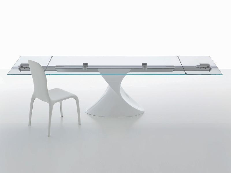 Modern Glass Top Extendable Dining Table Extendable Wooden With Within Extending Glass Dining Tables (View 2 of 20)