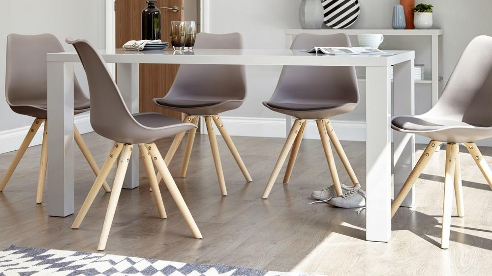 Modern Grey Gloss Dining Table | 6 Seater Dining Table | Uk Intended For 6 Seater Dining Tables (Image 16 of 20)