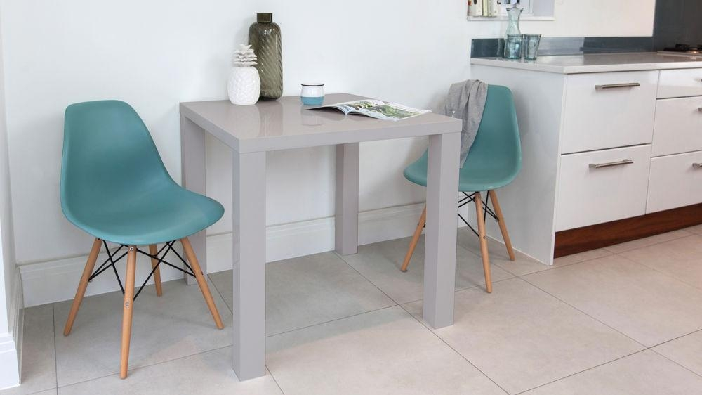 Modern Grey High Gloss Table | Kitchen Table | Uk In Two Seater Dining Tables (Image 15 of 20)