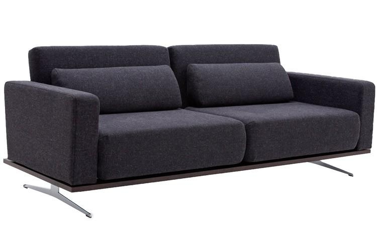 Modern Grey Sofabed Sleeper | Venus King Couch Futon | The Futon Shop Throughout King Size Sofa Beds (Image 14 of 20)
