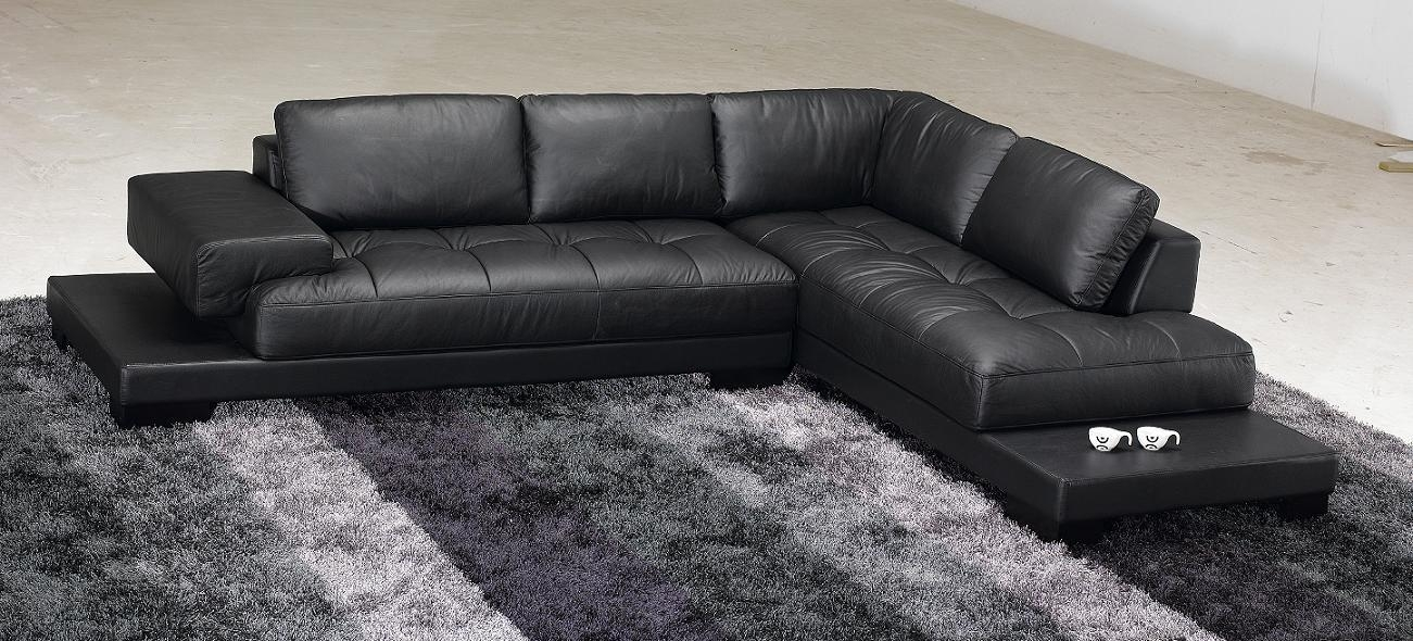 Modern Leather Couches Best 25+ Modern Leather Sofa Ideas On Pertaining To Black Modern Couches (Image 14 of 20)