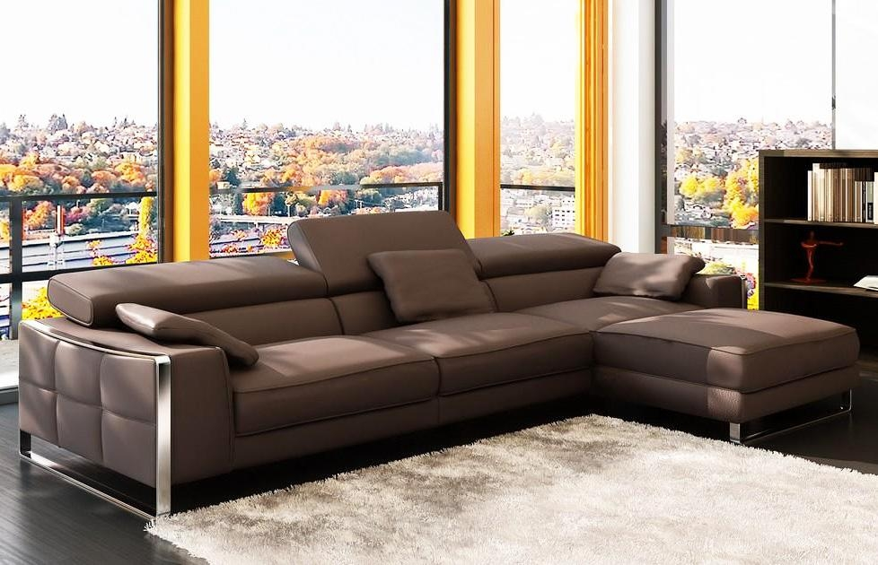 Modern Leather Sectional Sofa Flavio | Leather Sectionals Throughout Leather Modern Sectional Sofas (View 2 of 20)