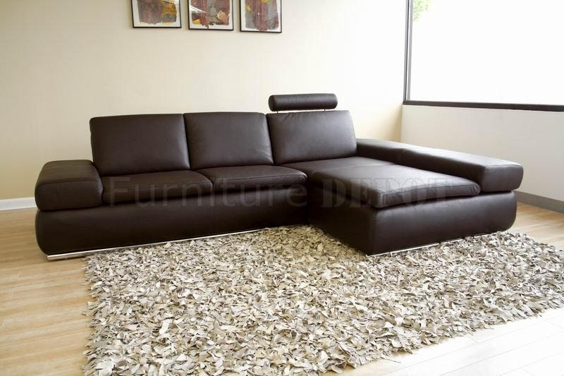 Modern Leather Sectional Sofa With Regard To Leather Modern Sectional Sofas (View 10 of 20)