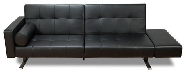 Modern Leather Sofa Bed Intended For Black Leather Convertible Sofas (Image 16 of 20)