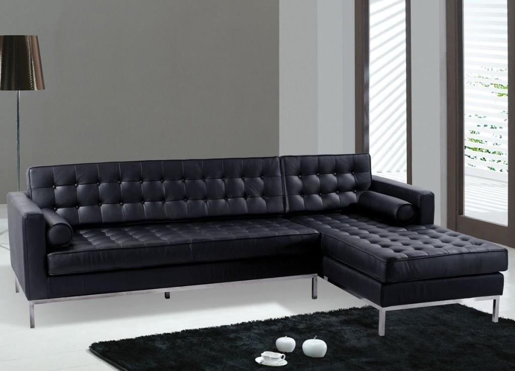 Modern Leather Sofa Chair Pertaining To Contemporary Black Leather Sofas (View 10 of 20)