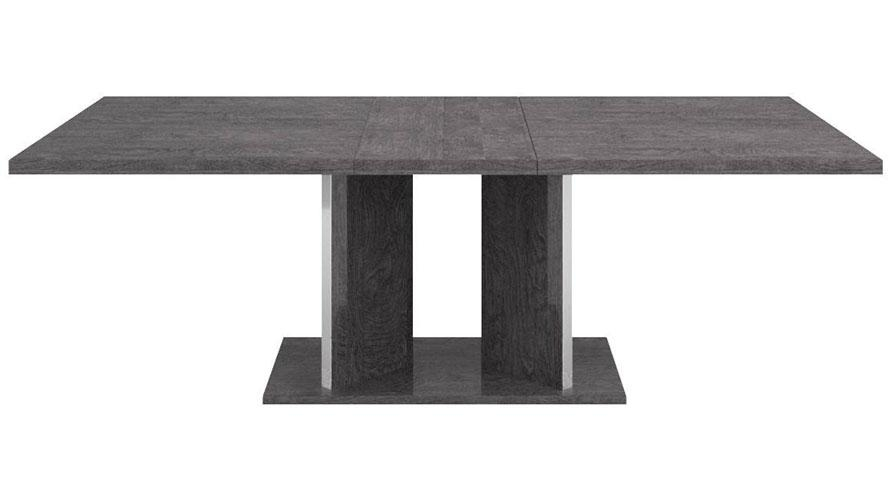 Modern Marquis Extension Dining Table Grey Birch High Gloss For Birch Dining Tables (View 17 of 20)