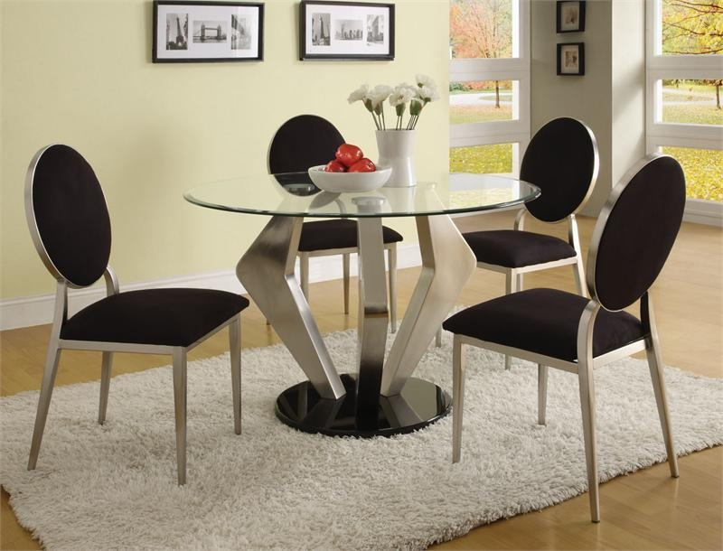 Modern Round Dining Table Set : Decorating Dining Room With Modern For Contemporary Dining Tables Sets (Image 18 of 20)