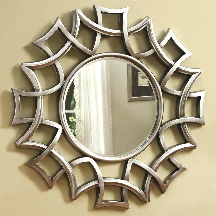 Modern Round Mirror – Shopwiz Inside Large Round Silver Mirror (View 16 of 20)