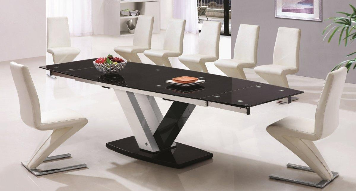20 photos extending dining table with 10 seats dining room ideas. Black Bedroom Furniture Sets. Home Design Ideas